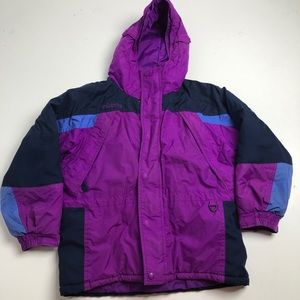 Columbia Winter Jacket Retro Girls Purple